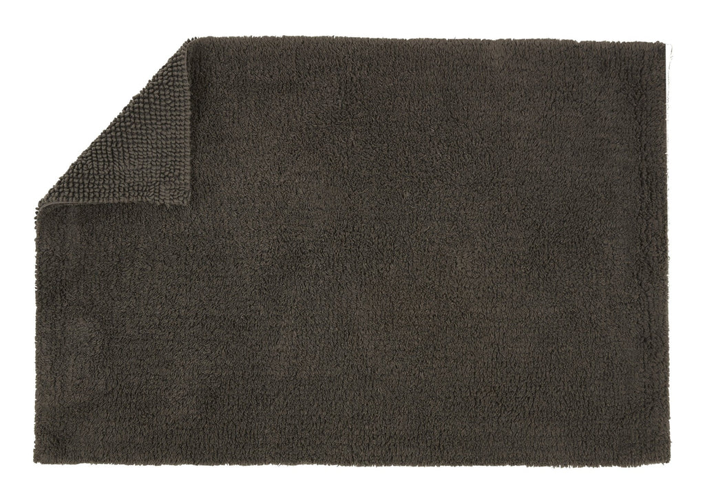 "Christy ""Reversible Bath Rug"" in Graphite Colour"