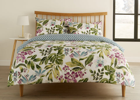 "Kingsley ""Tropics"" Bed Linen - White"