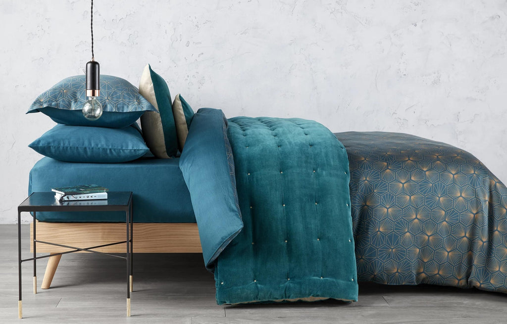 "Christy ""Urbis"" Duvet Cover Sets in Peacock"
