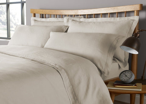 "Christy ""Belgian"" Bed Linen - Limestone"