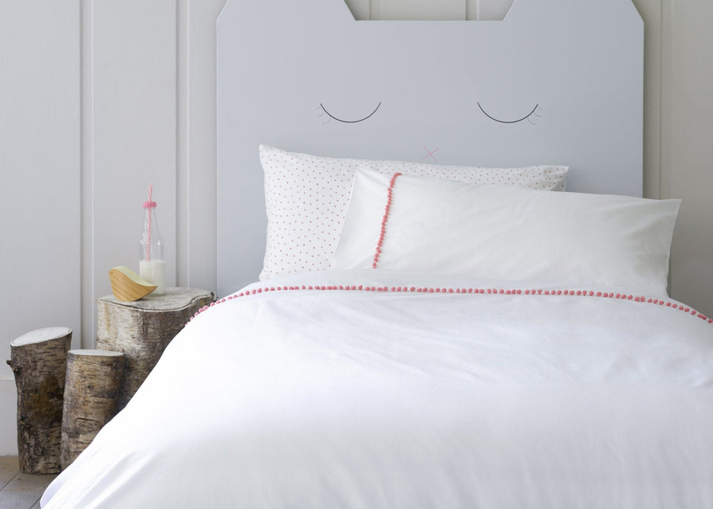 "Christy Junior ""Willow"" Bed Linen - Colour Coral"