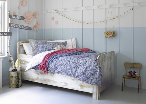 "Christy Junior ""Lady Bird Floral"" Bedlinen - Colour Indigo"