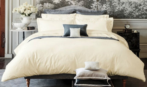 "Henry Christy ""Avignon"" 300TC Jacquard Bed Linen - colour Cream"