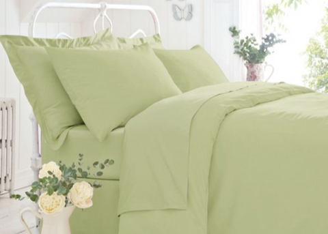 "Belledorm Easy Care ""200 Thread Count"" Polycotton Bed Sheets - Olive Green"