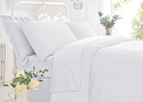 "Belledorm Easy Care ""200 Thread Count"" Polycotton Bed Sheets - White"