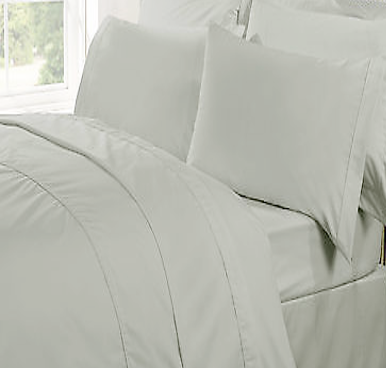 Christy 300 Thread Count Plain Colour Sheets - Silver