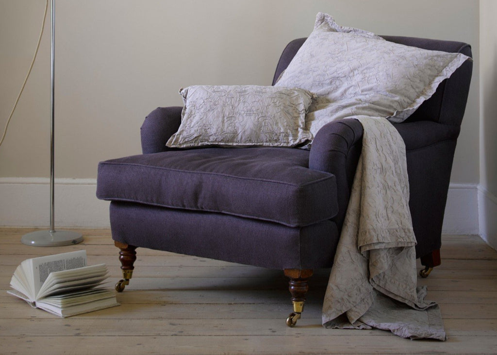 "Christy "" Hanbury"" Throw, Euro Shams and Cushion- colour Taupe"
