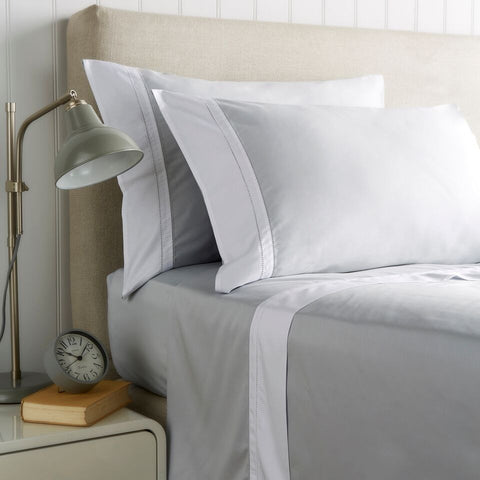 "Christy ""Hotel Sheeting"" Bed Linen - colour Silver"
