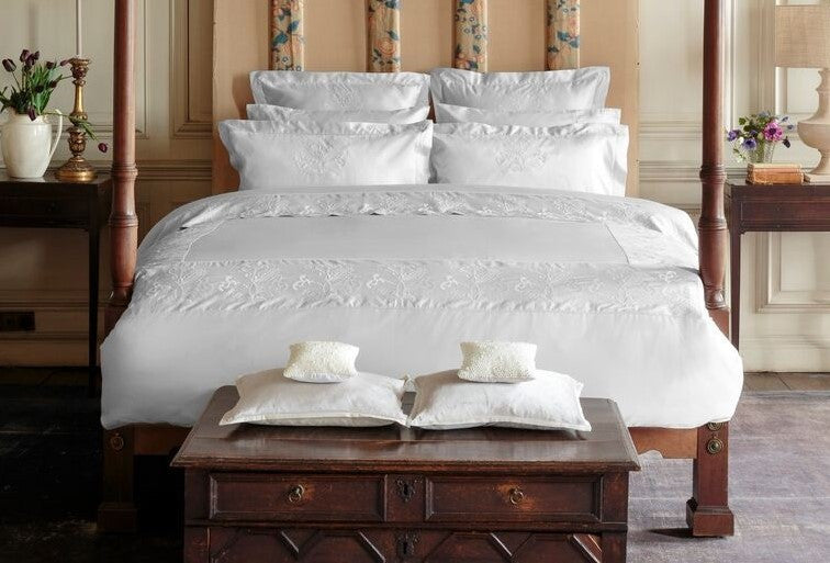Henry Christy Imperial 300tc Sateen Bed Linen Collection In White