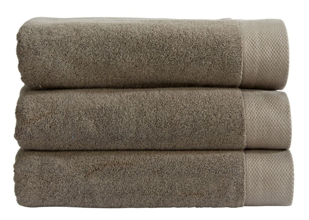 "Christy ""Luxe"" Bath Towels in Soot (Dark Grey)"