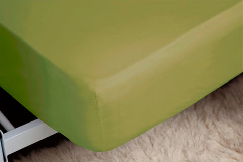 "Belledorm Easy Care ""200 Thread Count"" Polycotton Bed Sheet - Olive Colour"