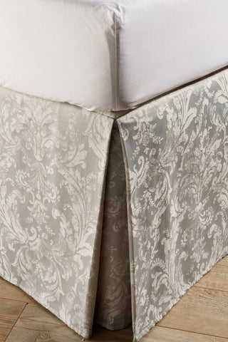 "Christy ""Jacquard Bed Skirt"" (Valance) - colour Silver"