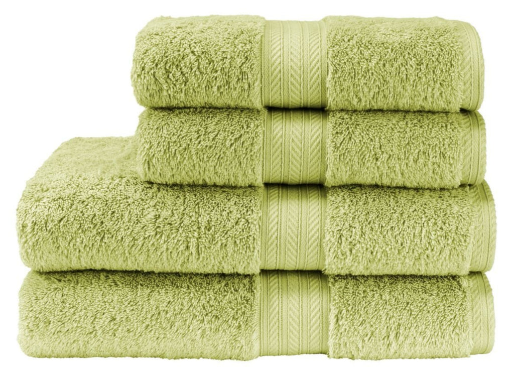 "Christy ""Renaissance"" Towel and Bath Mat Collection in Green Fern"