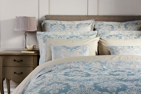 "Christy ""Serena"" Bed Linen - colour Duck Egg"