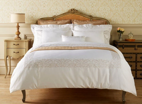 "Henry Christy ""Sloane"" 300TC Sateen Bed Linen Collection in White"