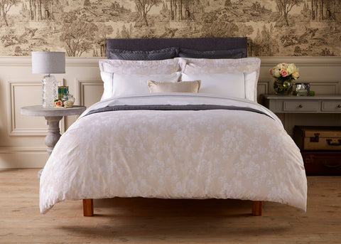 "Henry Christy ""Vintage Peony"" 300TC Sateen Bed Linen Collection in Taupe"