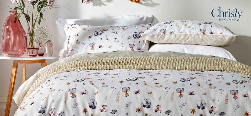 Christy Ink Flower Ochre bed linen