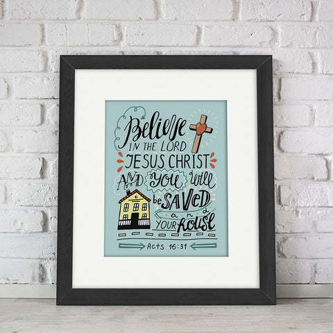 """Believe"" Kid's Bible Verse Frames"
