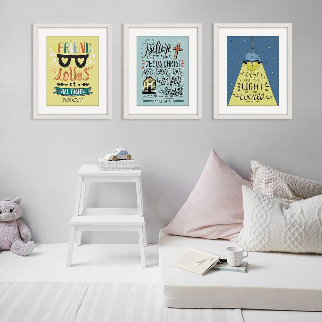 """Golden Rule"" Kid's Bible Verse Frames"