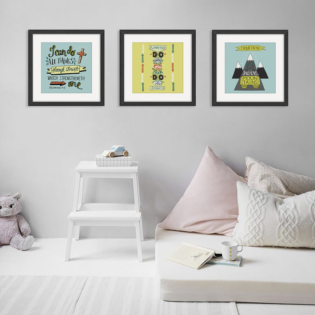 """My House"" Kid's Bible Verse Frames"