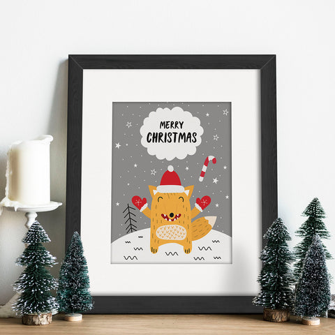 Christmas Fox Vector Frames