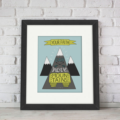 """Mountains"" Kid's Bible Verse Frames"