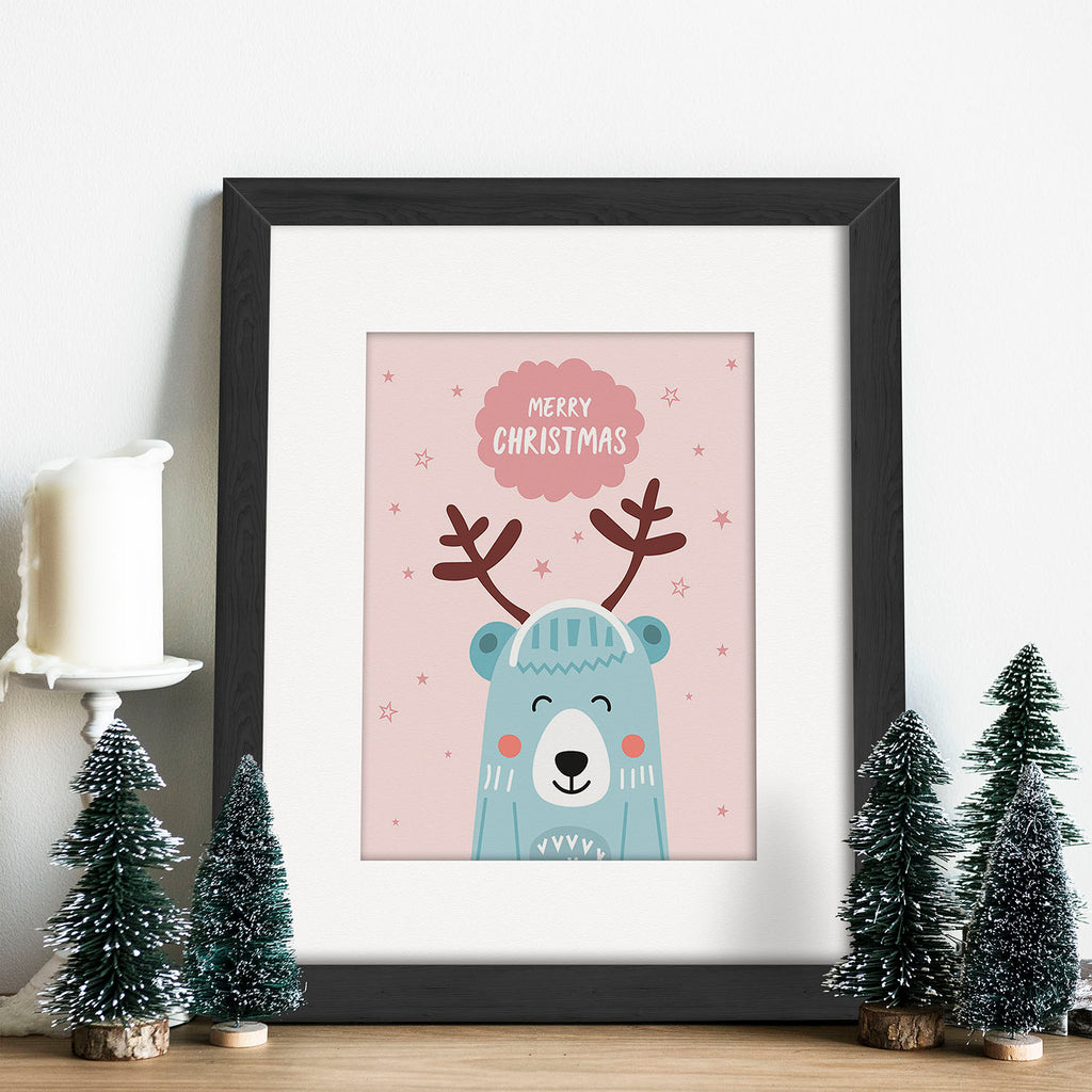 Christmas Bear Vector Frames