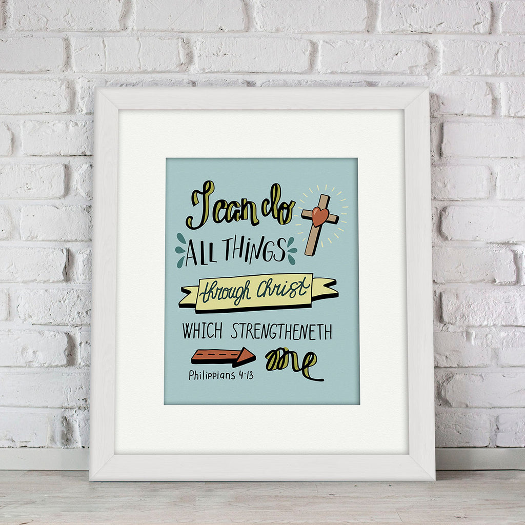 """I Can Do"" Kid's Bible Verse Frames"