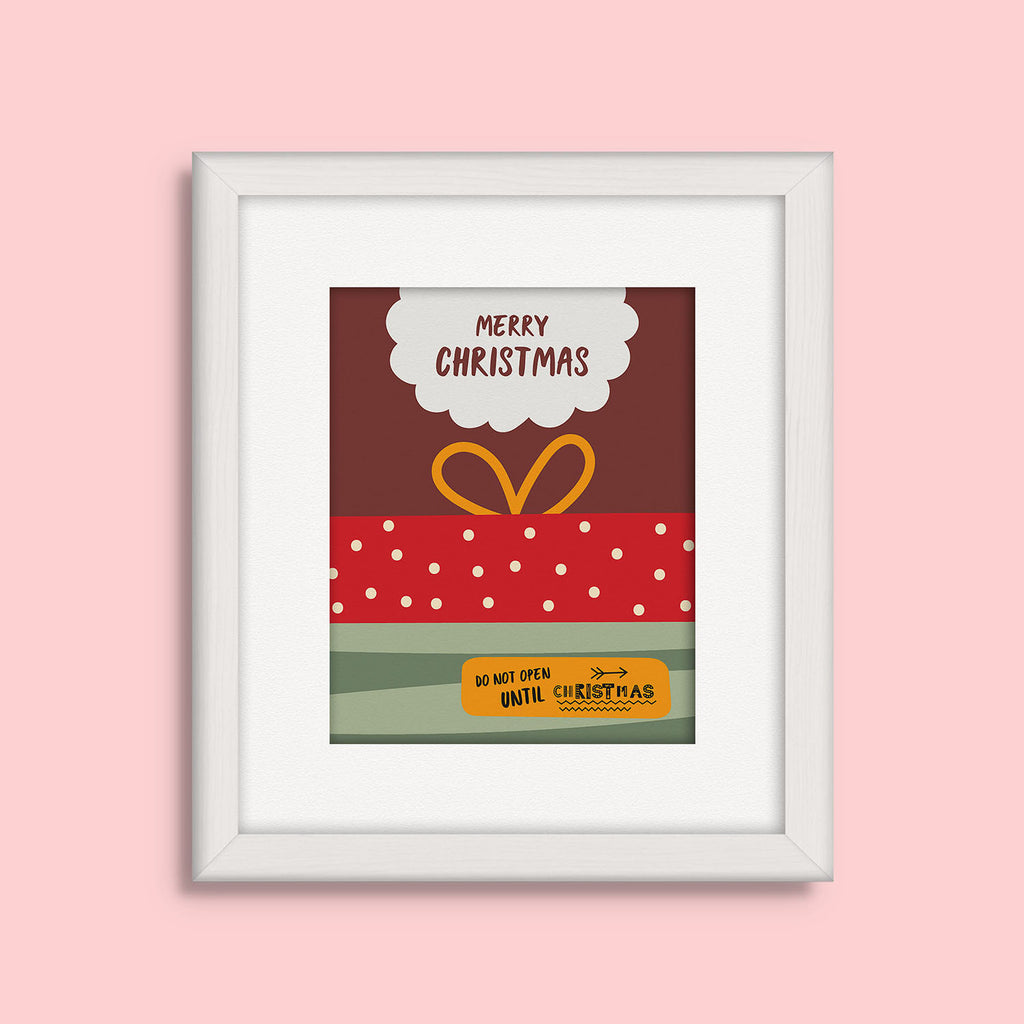 Christmas Box Vector Frames