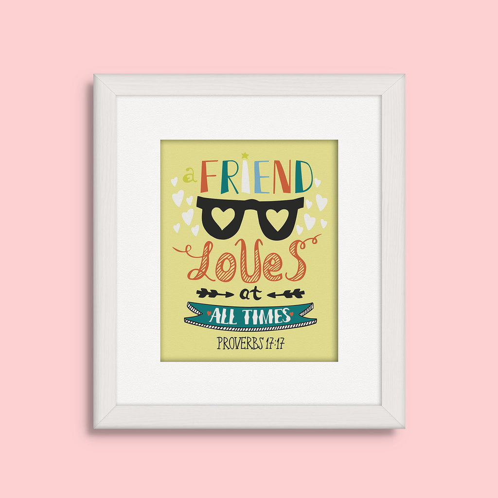 """Friend"" Kid's Bible Verse Frames"
