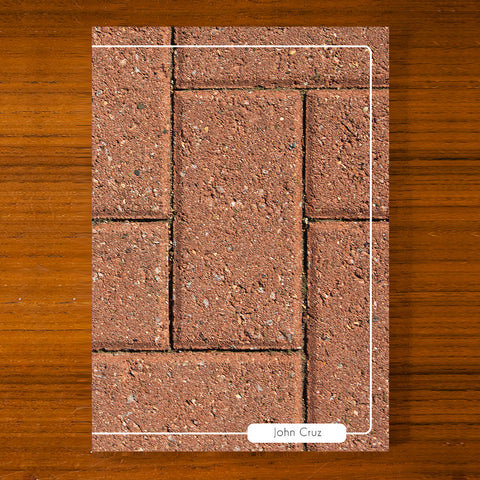 Brick Design Printed Journal B01