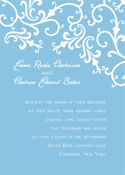 "5""x7"" Wedding Invitation WI-04"