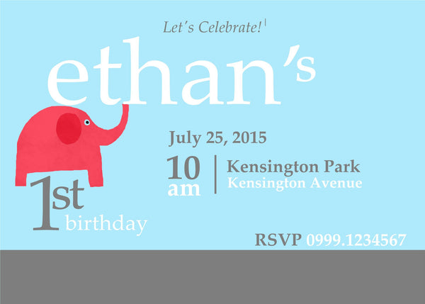 "5""x7"" Birthday Invitation BI-48"
