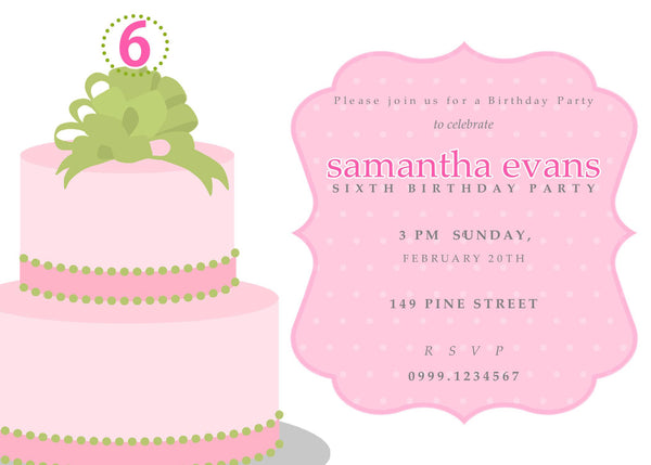 "5""x7"" Birthday Invitation BI-44"