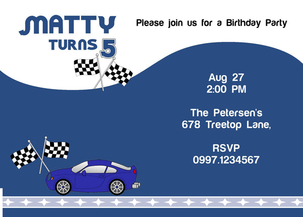 "5""x7"" Birthday Invitation BI-43"