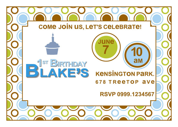 "5""x7"" Birthday Invitation BI-38"