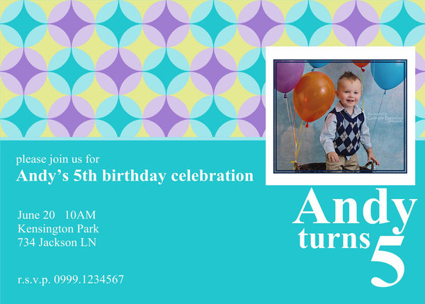 "5""x7"" Birthday Invitation BI-33"