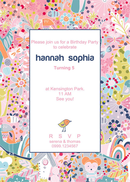 "5""x7"" Birthday Invitation BI-22"