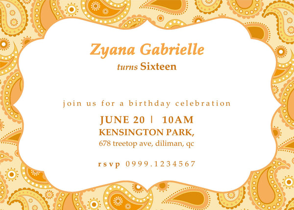 "5""x7"" Birthday Invitation BI-03"
