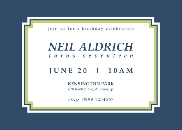 "5""x7"" Birthday Invitation BI-13"
