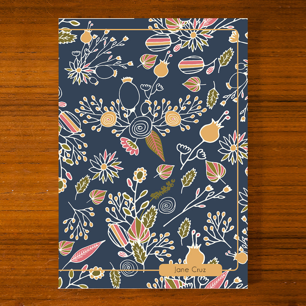 Floral Printed Journal F07