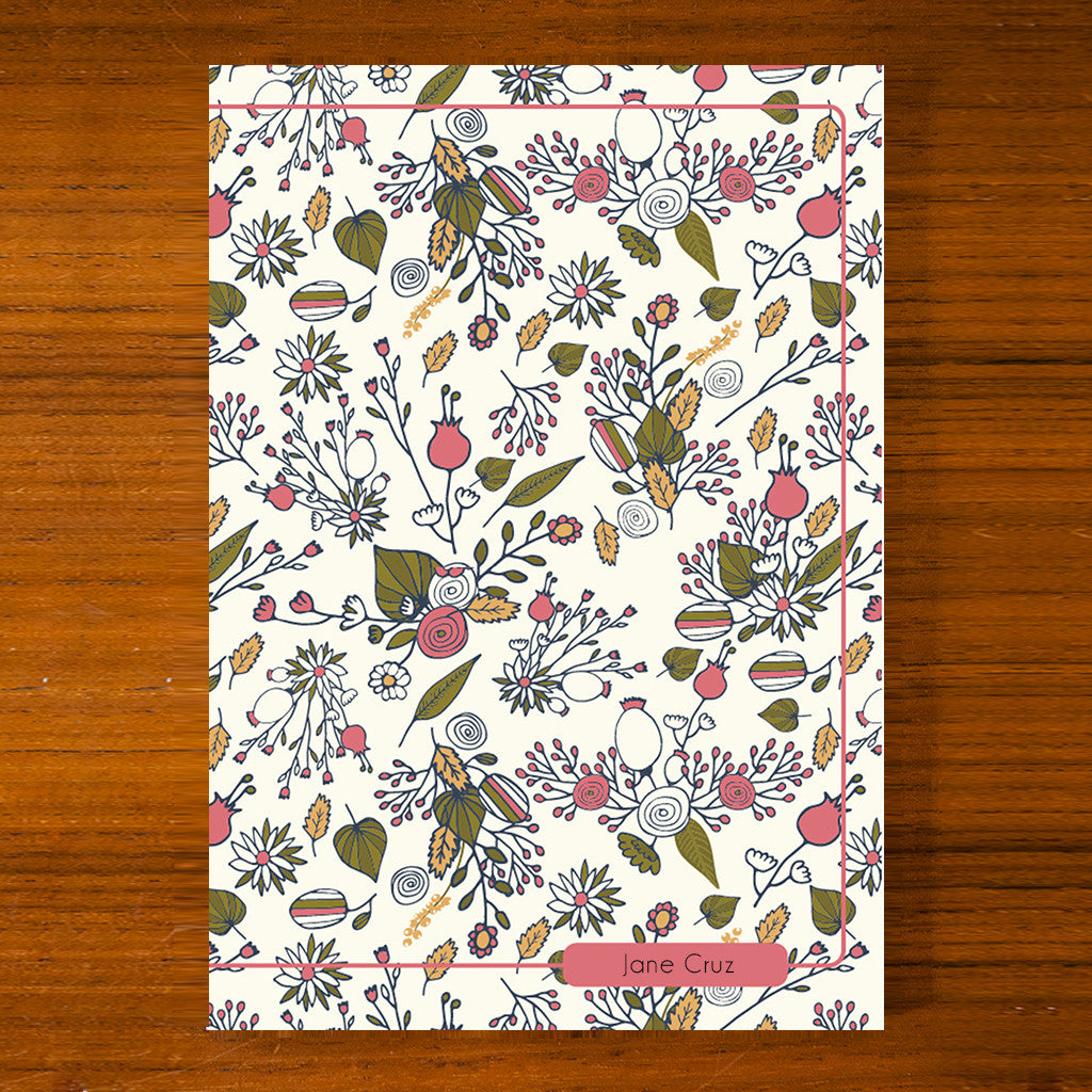Floral Printed Journal F08