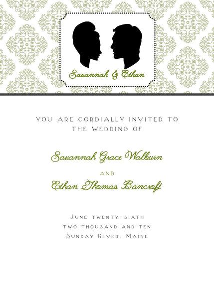 "5""x7"" Wedding Invitation WI-10"