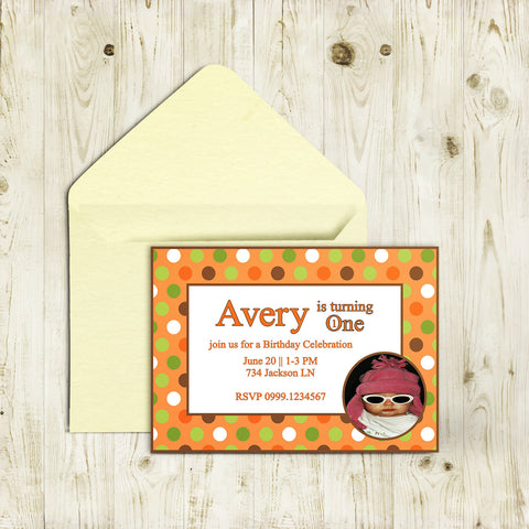"5""x7"" Birthday Invitation BI-30"