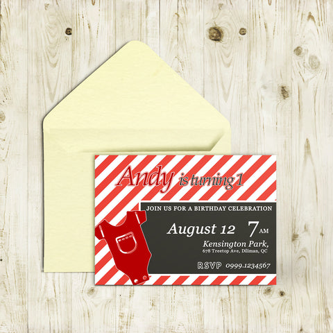 "5""x7"" Birthday Invitation BI-32"