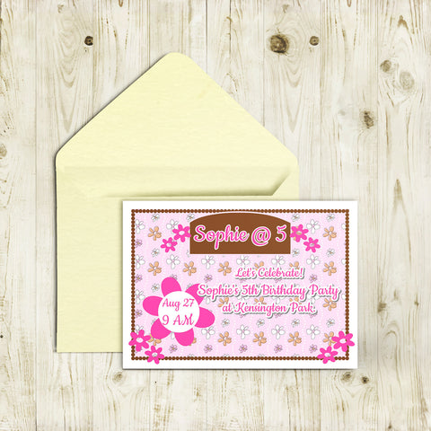 "5""x7"" Birthday Invitation BI-39"