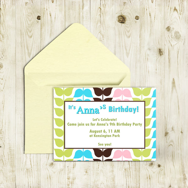 "5""x7"" Birthday Invitation BI-40"