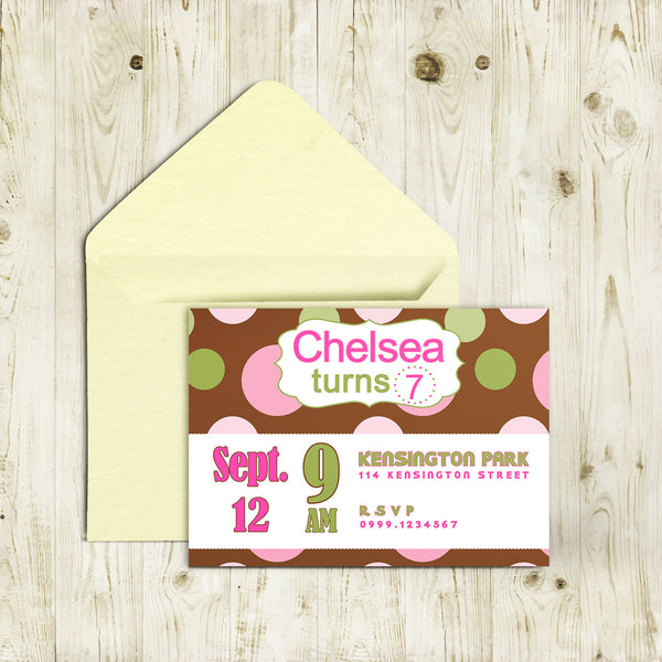 "5""x7"" Birthday Invitation BI-41"