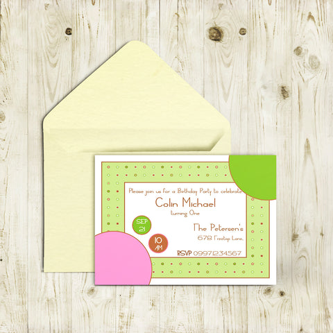 "5""x7"" Birthday Invitation BI-47"