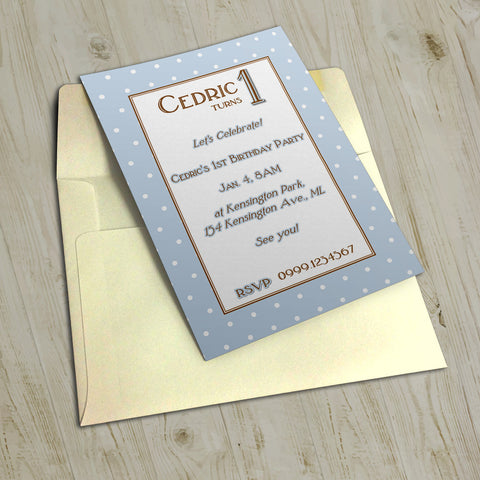 "5""x7"" Birthday Invitation BI-27"
